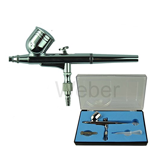 New Pro Gravity Feed Dual-Action Air Brush Set For Art Tattoo Nail. 7 cc cup. Nozzle 0.3 mm.