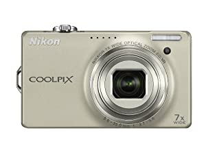 Nikon Coolpix S6000 14.2 MP Digital Camera with 7x Optical Vibration Reduction (VR) Zoom and 2.7-Inch LCD (Silver)
