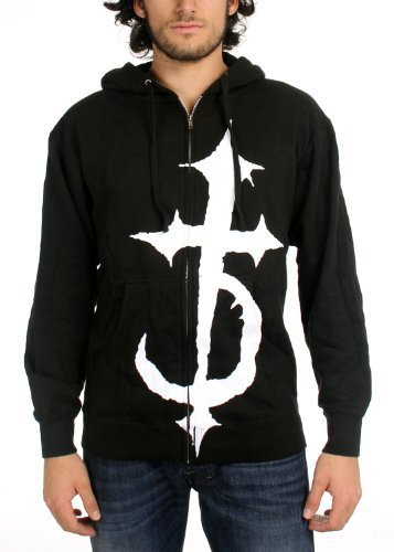 DevilDriver - Uomo Cross Hoodie in Nero, Medium, Nero