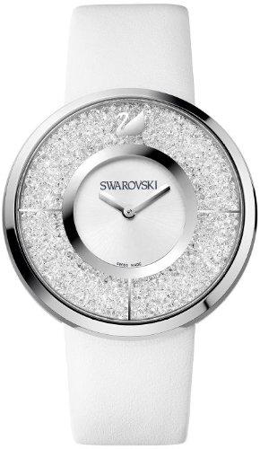 Swarovski Crystalline White Dial Calfskin Leather Strap Quartz Ladies Watch 1135989