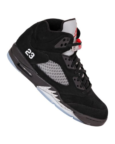 Nike Air Jordan 5 Retro Mens Basketball Shoes 2011 [136027-010] Black/Varsity Red-Metallic Silver Mens Shoes 136027-010-11