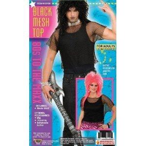 Black 80's Punk Rock Mesh Fishnet Top
