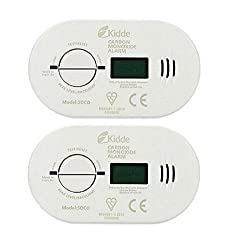2 x Kidde 5DCO Battery Operated Carbon Monoxide Alarm with Digital Display by Kidde