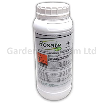 1 X 1l Rosate Green New Very Strong Glyphosate Weedkiller + Free Cup & Gloves