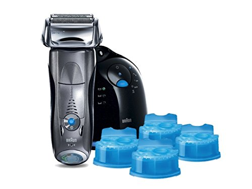 Braun Series 7 790cc-4 Electric Foil Shaver and Clean and Renew Cartridge Refills (Braun 790 Cartridge compare prices)