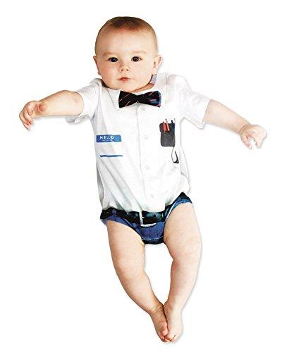[Faux Real Infant Nerd Romper (18M)] (Nerd Costume Toddler)