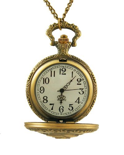 Женские карманные часы Vintage Engraved Jewelry Carving Flip Cover Style Antique Copper Pocket Watch Fashion Retro Eiffel Tower
