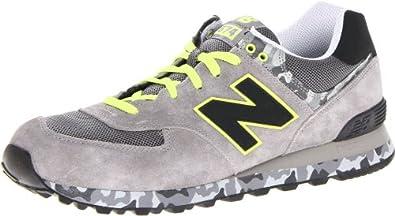(快抢)新百伦New Balance男士 ML574 迷彩跑步鞋 蓝$40.98