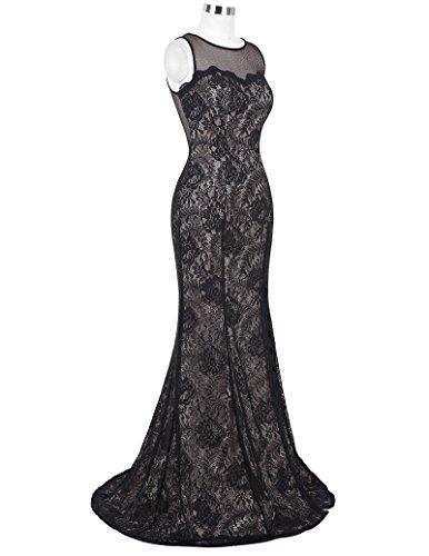 STARZZFloral Lace Pattern Graceful Cocktail Party Black Dress Size US12 ST168-1