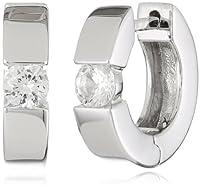 Sterling Silver Hoop Earrings (1/2cttw) from Max Mark Inc.