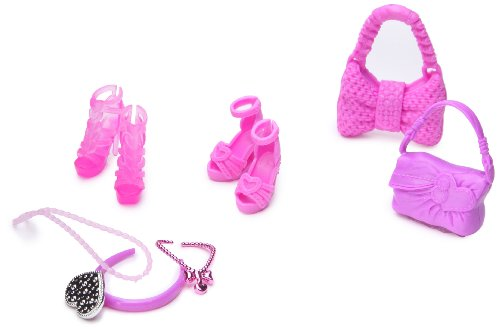 Mattel-Barbie Shoes Assorted Pink Fashionistas Accessories by Mattel