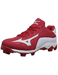 Mizuno 9 Spike ADV YTH FRHSE 8 RD-WH Youth Molded Cleat (Little Kid/Big Kid)