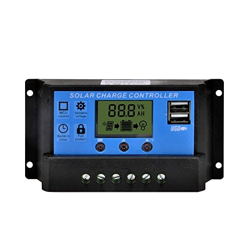 YueYueZou® 20amp 12V PMW Solar Power Controller Regulator with LCD USB Display Port (Solar Panel Voltage Controler compare prices)