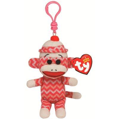 Ty Beanie Baby - Sock Monkey Zig-Zag Clip