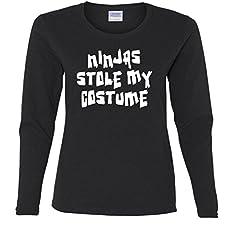 Ninjas stole my costume Missy Fit Long Sleeve T-Shirt