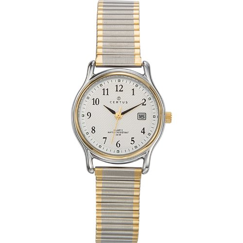 Certus 642319-Ladies Watch-Analogue Quartz-Silver Dial-Two-Tone Metal Bracelet