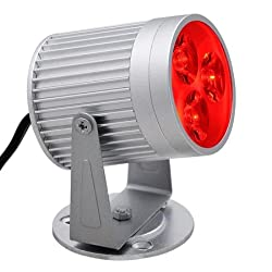 Red Aluminum Pin Spot 3 LED Light Disco Party Lighting from Generic Brand