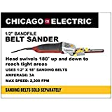 1/2 inch Bandfile Belt Sander with 180 Degree Swivel Head; Comes with 5 Belts