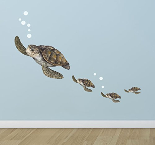 Create-A-Mural : Sea Turtle Family Decals ~Underwater Room Theme