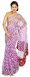 Kasturi Sarees Basement Women's Net Saree (Purple)