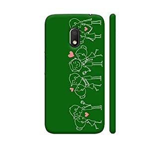 Colorpur Happy Couple On Green Designer Mobile Phone Case Back Cover For Motorola G Play 4th Gen / Moto G4 Play