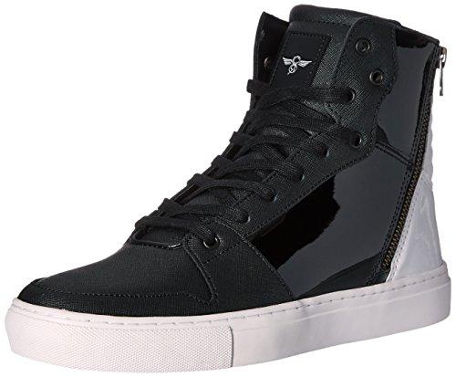 Creative Recreation Men's Adonis Fashion Sneaker, Black/White Patent, 11 M US