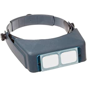 "Donegan DA-5 OptiVisor Headband Magnifier, 2.5x Magnification, 8"" Focal Length"