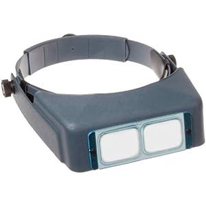 "Donegan DA-7 OptiVisor Headband Magnifier, 2.75x Magnification, 6"" Focal Length"