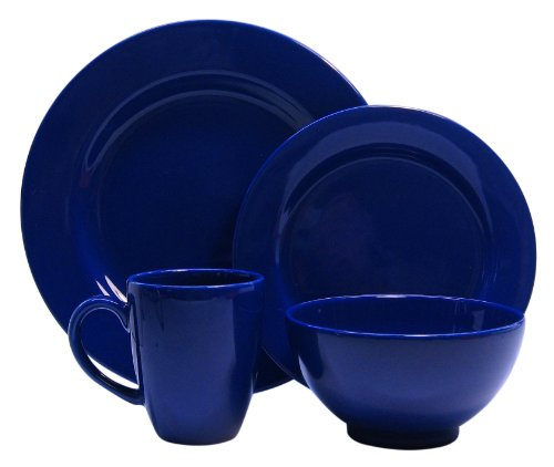 Waechtersbach Fun Factory II Royal Blue 16-Piece Dinnerware Set, Service for 4