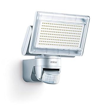 Steinel Sensor LED-Strahler XLED Home 1 silber, LED-Scheinwerfer mit 140° Bewegungsmelder und max. 14 m Reichweite, 920 Lumen Helligkeit ,Lichtfarbe 6700 K Kalt-weiß, 002688