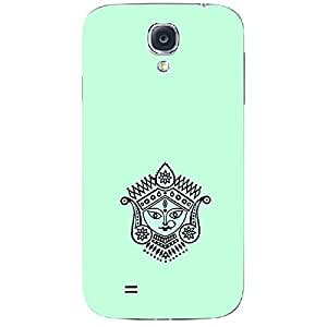 Skin4gadgets Maa Ambe Durga - Line Sketch on English Pastel Color-Light Blue Phone Skin for SAMSUNG GALAXY S4 (I9500)