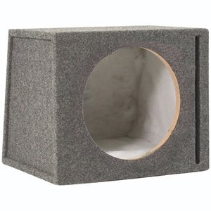 Scosche SEV10CC 10-Inch Slot Ported Single Subwoofer Enclosure (Grey/Black)