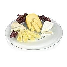 Vidrio-plato 45 cm giratorio Servier-plato Queso-placa plato giratorio para tartas-placa