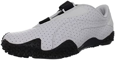 Puma Women's Mostro Perf EXT Fashion Sneaker,White/White/Black,10.5 B US