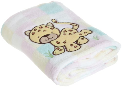 Sam Salem and Son Leopard Baby Blanket, Pink