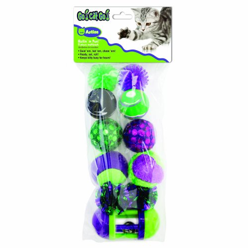 OurPets Rolling in the Fun Cat Toy, 11pc Multi-Pack