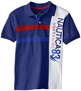 Nautica Boys 8-20 Pique Fashion Polo by Nautica