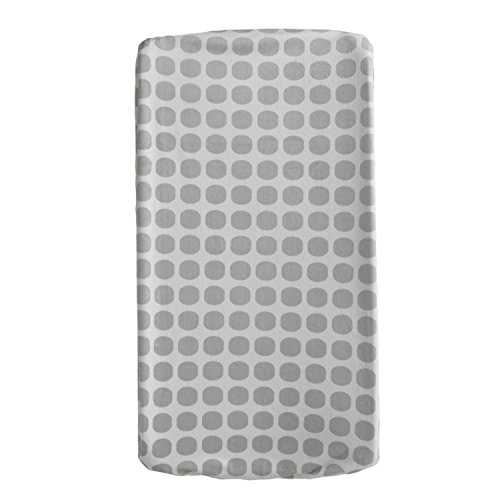 Living Textiles Change Pad Cover, Grey Mod Dot