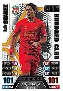 Match Attax Extra 2013/2014 Luis Suarez 100 Hundred Club 13/14 by Topps
