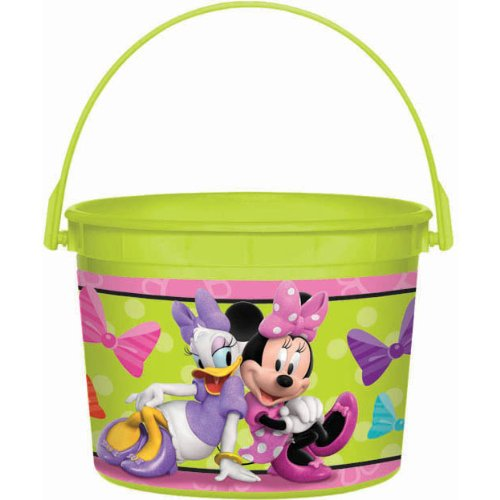 Disney Minnie Mouse Birthday Party Toys Favours and Prize Giveaway Container (1 Piece), Lime Green, 4 1/2