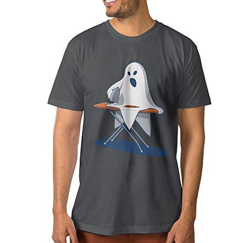 Men Ironing Devil Short Sleeve T Shirt DeepHeather XL (Devil Fetus compare prices)