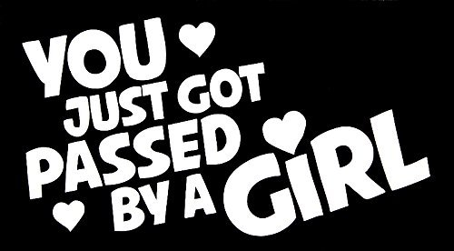 Pumpkin You Just Got Passed by a GIRL Car Vinyl Decal Sticker