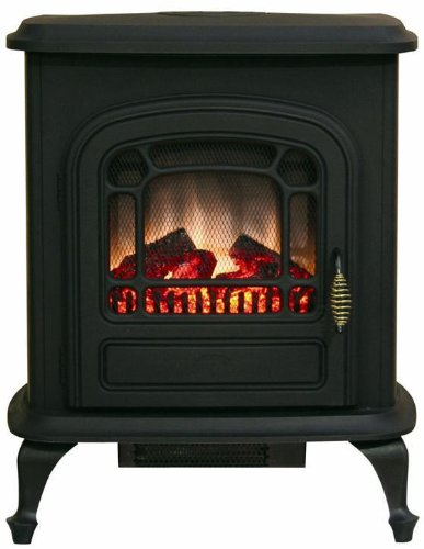 Brooke Electric Stove Fireplace, METAL, BLACK picture B00263XI6W.jpg