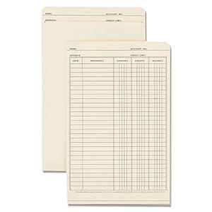 Wilson Jones Ledger Folder, 19.5 x 6 Inches, Manila, 100 Folders Per Box (W700-04)