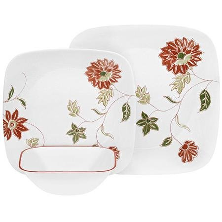 Floral-Corelle-12-Piece-Squares-Matilda-Dinnerware-Set