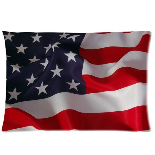 Generic American Flag Vintage Retro Unique Design Custom Zippered Pillow Case 16X24 (Two Sides) front-891338