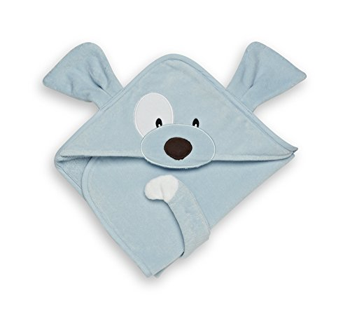 GUND Babygund Spunky Baby Hooded Towel, Spunky Peek A Blue, 30'' By 30'' - 1