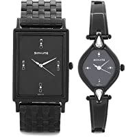 Sonata Analog Black Dial Couple's Watch - 770038063NM01