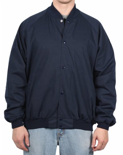 Auburn Sport Men's Classic Baseball Jacket, Navy, Size X-Large at Amazon.com