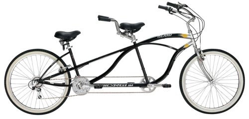 "Purchase Tandem Shimano Bicycle - 26"" Island - Black"